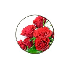 A Bouquet Of Roses On A White Background Hat Clip Ball Marker (10 Pack)
