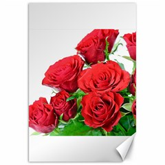 A Bouquet Of Roses On A White Background Canvas 20  X 30
