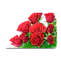 A Bouquet Of Roses On A White Background Plate Mats