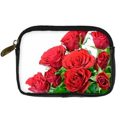 A Bouquet Of Roses On A White Background Digital Camera Cases