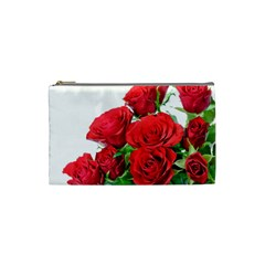 A Bouquet Of Roses On A White Background Cosmetic Bag (small)