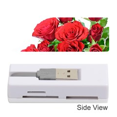 A Bouquet Of Roses On A White Background Memory Card Reader (stick)