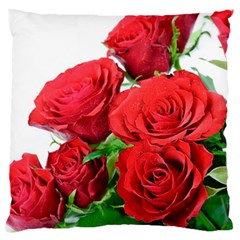 A Bouquet Of Roses On A White Background Large Cushion Case (one Side)