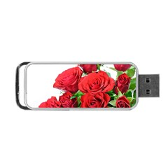 A Bouquet Of Roses On A White Background Portable Usb Flash (two Sides)