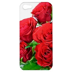 A Bouquet Of Roses On A White Background Apple Iphone 5 Hardshell Case