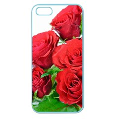 A Bouquet Of Roses On A White Background Apple Seamless Iphone 5 Case (color)