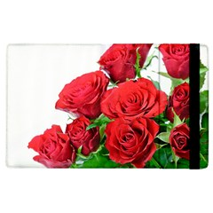 A Bouquet Of Roses On A White Background Apple Ipad 2 Flip Case