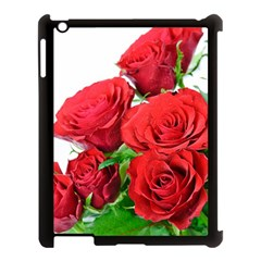 A Bouquet Of Roses On A White Background Apple Ipad 3/4 Case (black)