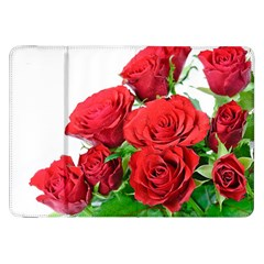 A Bouquet Of Roses On A White Background Samsung Galaxy Tab 8 9  P7300 Flip Case