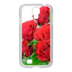 A Bouquet Of Roses On A White Background Samsung Galaxy S4 I9500/ I9505 Case (white)