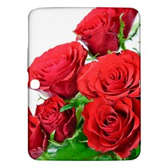 A Bouquet Of Roses On A White Background Samsung Galaxy Tab 3 (10 1 ) P5200 Hardshell Case
