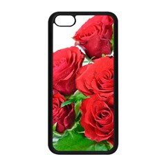 A Bouquet Of Roses On A White Background Apple Iphone 5c Seamless Case (black)