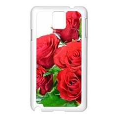 A Bouquet Of Roses On A White Background Samsung Galaxy Note 3 N9005 Case (white)