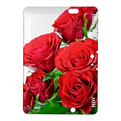 A Bouquet Of Roses On A White Background Kindle Fire Hdx 8 9  Hardshell Case