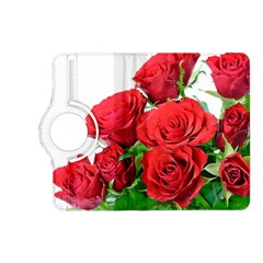A Bouquet Of Roses On A White Background Kindle Fire Hd (2013) Flip 360 Case