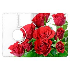 A Bouquet Of Roses On A White Background Kindle Fire Hdx Flip 360 Case