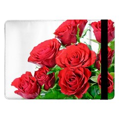 A Bouquet Of Roses On A White Background Samsung Galaxy Tab Pro 12 2  Flip Case