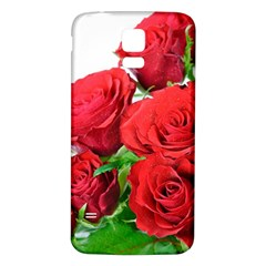 A Bouquet Of Roses On A White Background Samsung Galaxy S5 Back Case (white)