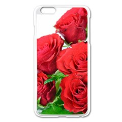 A Bouquet Of Roses On A White Background Apple Iphone 6 Plus/6s Plus Enamel White Case