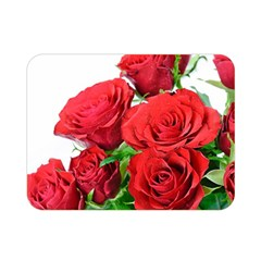 A Bouquet Of Roses On A White Background Double Sided Flano Blanket (mini)