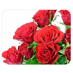 A Bouquet Of Roses On A White Background Double Sided Flano Blanket (medium)
