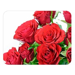 A Bouquet Of Roses On A White Background Double Sided Flano Blanket (large)