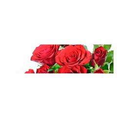 A Bouquet Of Roses On A White Background Satin Scarf (oblong)