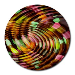 Wave Rings Circle Abstract Round Mousepads