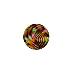 Wave Rings Circle Abstract 1  Mini Buttons