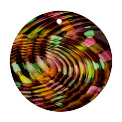 Wave Rings Circle Abstract Ornament (round)
