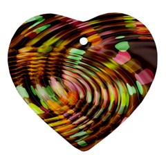 Wave Rings Circle Abstract Ornament (heart)