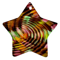 Wave Rings Circle Abstract Ornament (star)