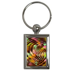 Wave Rings Circle Abstract Key Chains (rectangle)