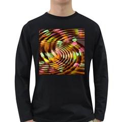 Wave Rings Circle Abstract Long Sleeve Dark T Shirts