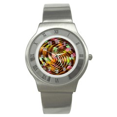 Wave Rings Circle Abstract Stainless Steel Watch