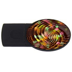Wave Rings Circle Abstract Usb Flash Drive Oval (4 Gb)
