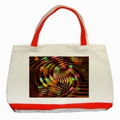 Wave Rings Circle Abstract Classic Tote Bag (red)
