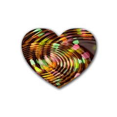 Wave Rings Circle Abstract Heart Coaster (4 Pack)