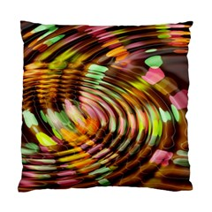 Wave Rings Circle Abstract Standard Cushion Case (one Side)