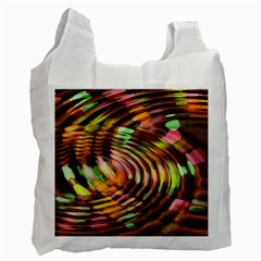 Wave Rings Circle Abstract Recycle Bag (two Side)