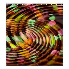 Wave Rings Circle Abstract Shower Curtain 66  X 72  (large)