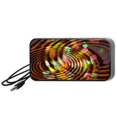 Wave Rings Circle Abstract Portable Speaker (black)