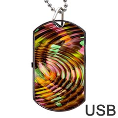 Wave Rings Circle Abstract Dog Tag Usb Flash (two Sides)