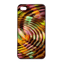 Wave Rings Circle Abstract Apple Iphone 4/4s Seamless Case (black)