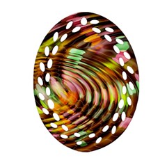 Wave Rings Circle Abstract Ornament (oval Filigree)