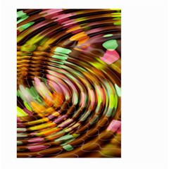 Wave Rings Circle Abstract Large Garden Flag (two Sides)