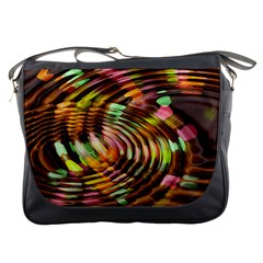 Wave Rings Circle Abstract Messenger Bags