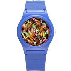 Wave Rings Circle Abstract Round Plastic Sport Watch (s)