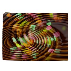 Wave Rings Circle Abstract Cosmetic Bag (xxl)