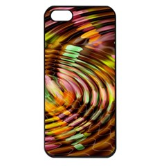 Wave Rings Circle Abstract Apple Iphone 5 Seamless Case (black)